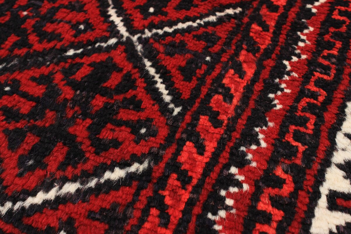 One Of A Kind Finest Baluch Wool Hand Knotted Cream/Dark Good Looking