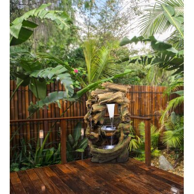 Image of Rainforest Waterfall Fountain with LED Light Alpine