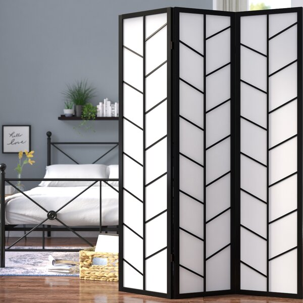 Demetrius Climbing 3 Panel Room Divider by Zipcode Design