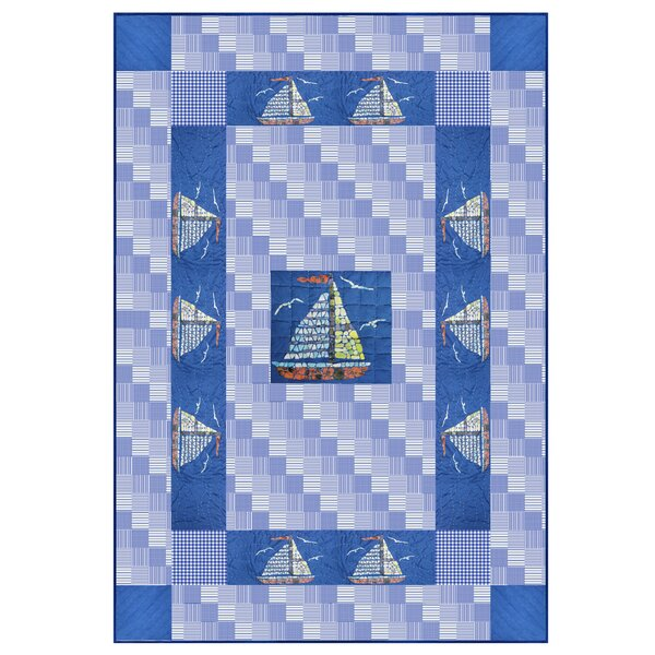 Hand Quilted Cotton Applique Quilt