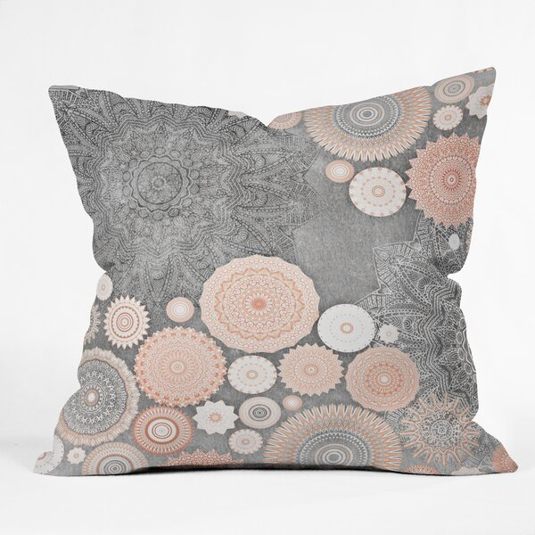 Monika Strigel FESTIVAL FLOW BLUSH Throw Pillow by East Urban Home