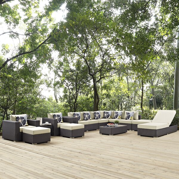 Tripp 12 Piece Sunbrella Sectional Seating Group with Cushions by Brayden Studio