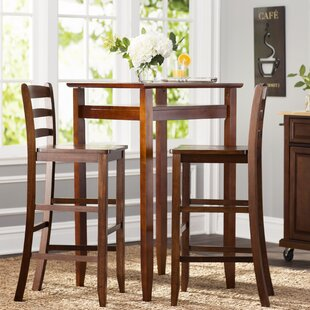 halo 3 piece pub table set - Tall Kitchen Table Chairs