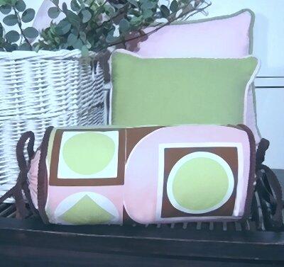 Modern Baby Girl Caffe Bolster Pillow by Brandee Danielle