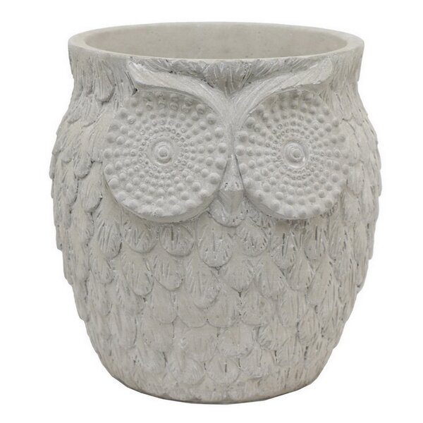 Owl Ceramic Pot Planter by Three Hands Co.