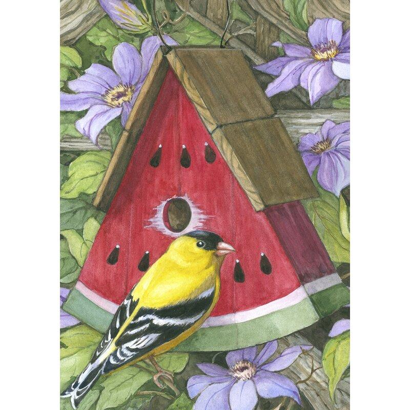 Toland Home Garden Watermelon Birdhouse Garden flag | Wayfair