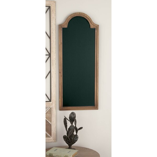 Arched Wooden Wall Mounted Chalkboard by Gracie Oa
