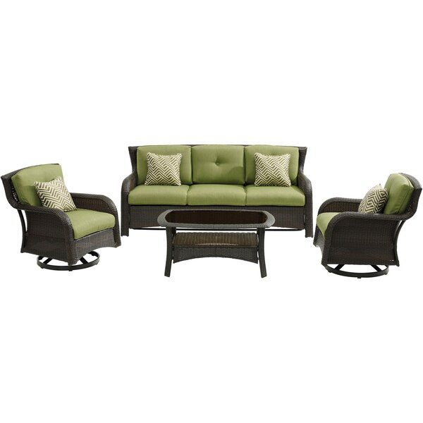 Asherman Loveseat 4 Piece Sofa Seating Group with Cushions by Sol 72 Outdoor