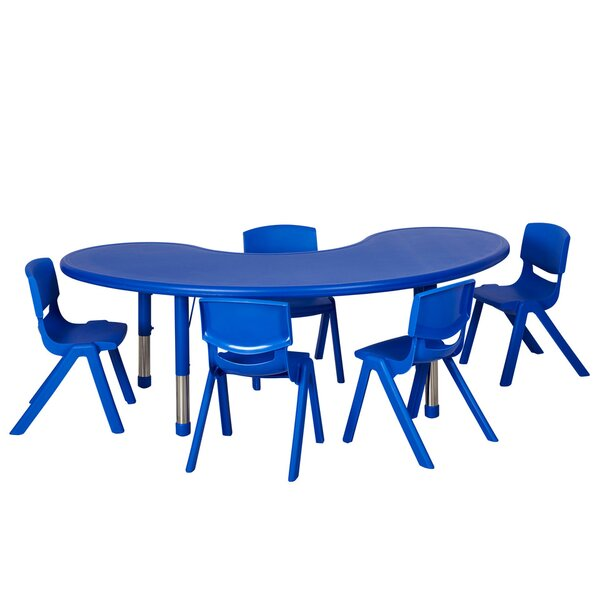 6 Piece Kidney Activity Table & 14 Chair Set by ECR4kids