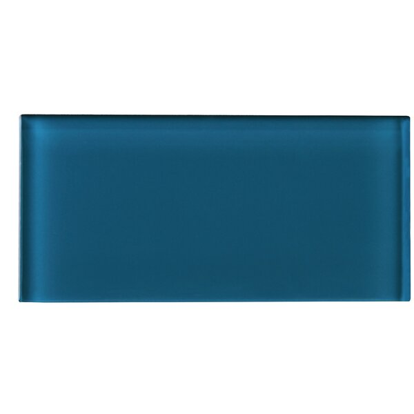 3 x 6 Glass Tile in Turquoise Blue by Multile