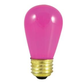 11W Pink E26 Incandescent Light Bulb (Set of 28) by Bulbrite Industries