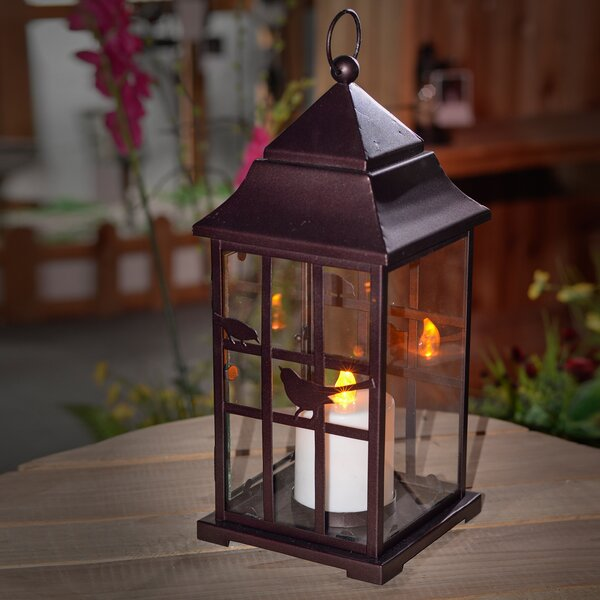 Birdhouse Metal Lantern by Winsome House
