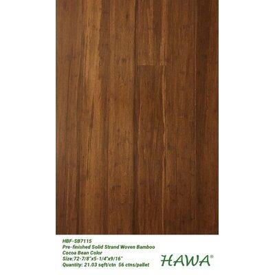 """5-1/4"""" Solid Bamboo Flooring Hawa Bamboo Color: Walnut"""