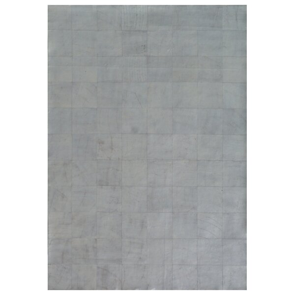Capri Hand Woven Leather Silver Area Rug by Exquisite Rugs