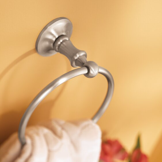 Danbury Wall Mounted Towel Ring by Moen