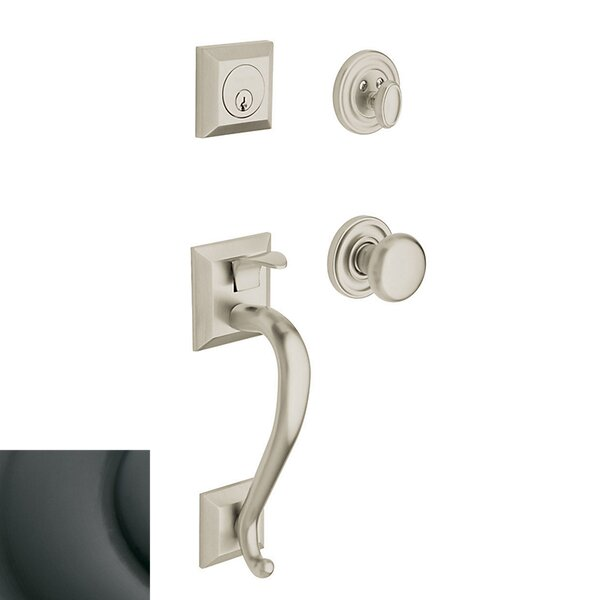 Madison Single Cylinder Handleset with Classic Interior Knob by Baldwin