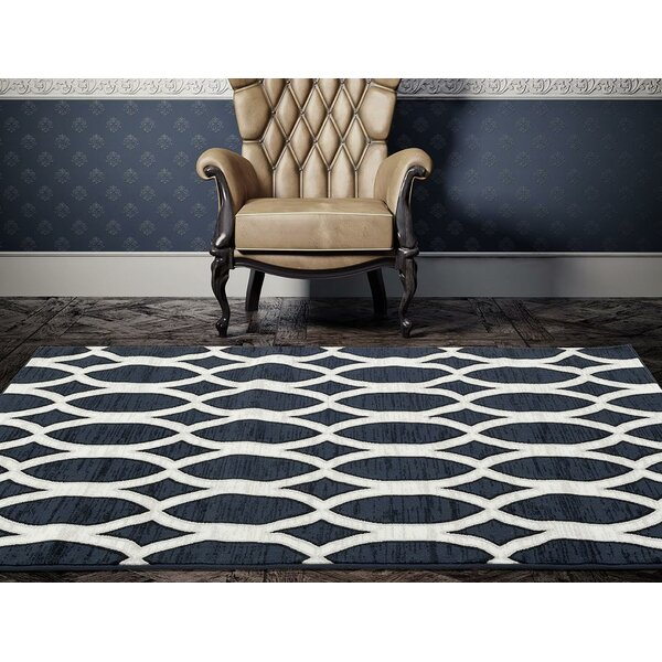 Elenor Blue/White Indoor/Outdoor Area Rug by Ivy Bronx