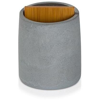 Chayne Cement Bamboo Wood Toothbrush Holder by Williston Forge