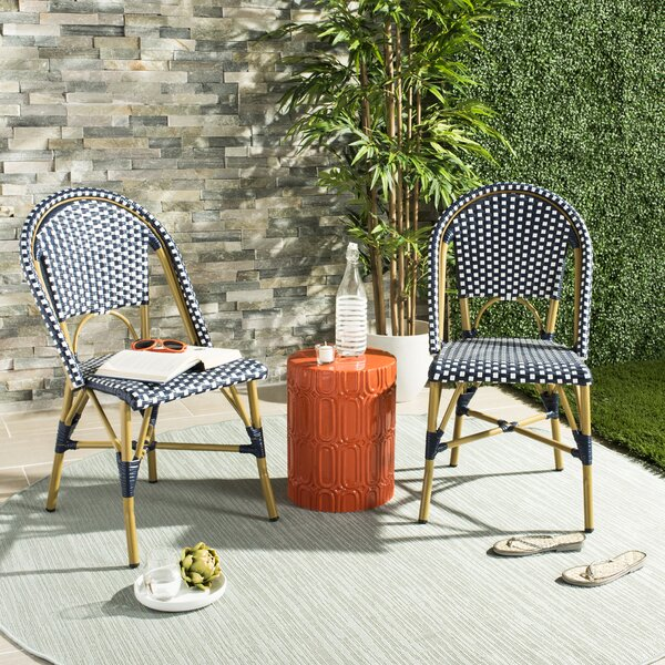 Rebeca Stacking Patio Dining Chair (Set of 2) by M