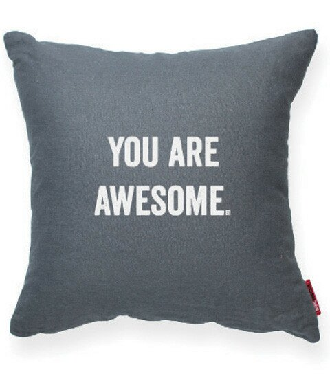 Pettis You Are Awesome Throw Pillow by Wrought Studio