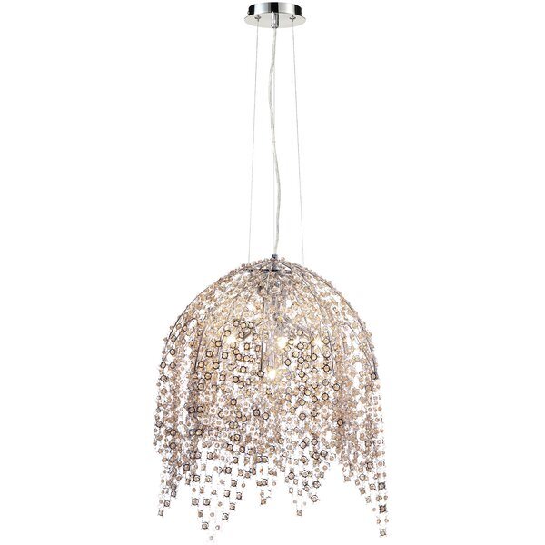 Shirlee 6 - Light Unique / Statement Geometric Chandelier by Everly Quinn Everly Quinn