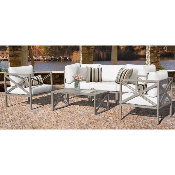 Carlisle Outdoor 6 Piece Sofa Seating Group with Cushions by TK Classics