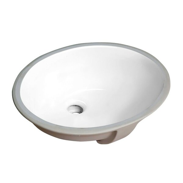 Pegasus Vitreous China Circular Undermount Bathroom Sink with Overflow by ANZZI