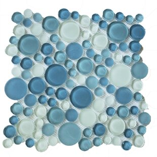 Bubble Random Sized Gl Mosaic Tile In Ocean