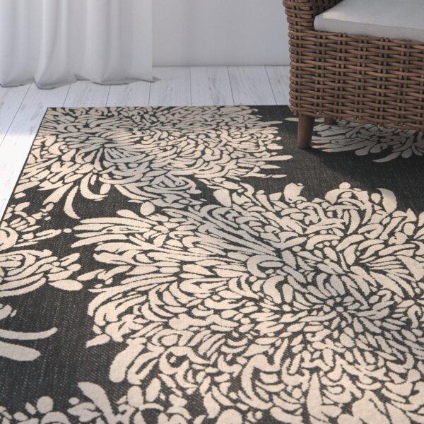 Chrysanthemum Black/Beige Area Rug by Martha Stewart Rugs
