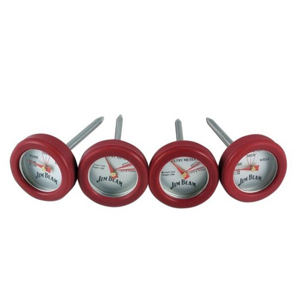 Poultry and Steak 4 Piece Mini Thermometer by Jim Beam