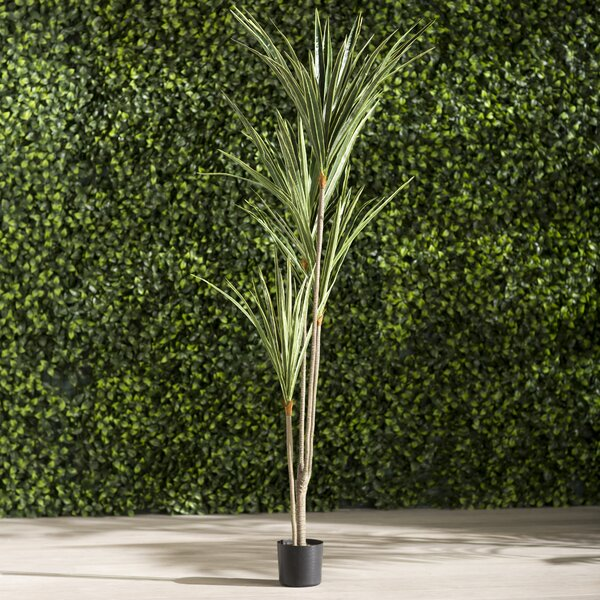 Artificial Yucca Foliage Tree in Pot by Bungalow Rose