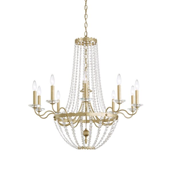 Early American 10 - Light Candle Style Empire Chandelier by Schonbek Schonbek