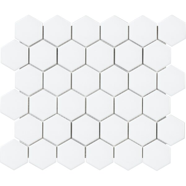 Sail 2 x 2 Ceramic/Porcelain Mosaic Tile in Matte White by Parvatile