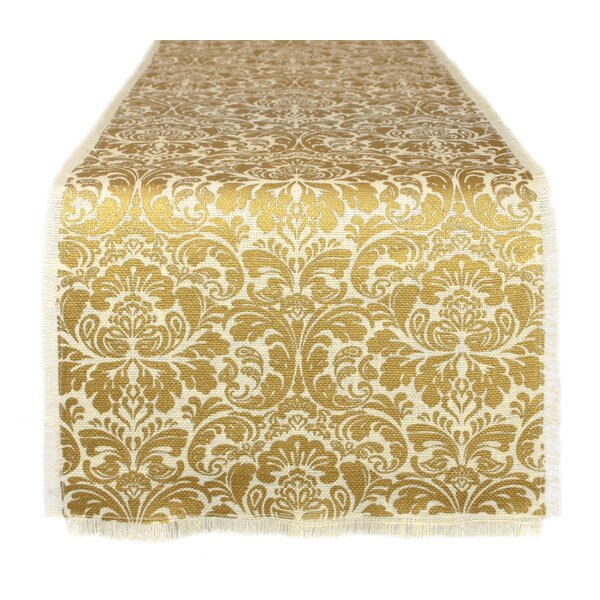 Cliburn Burlap Table Runner by Astoria Grand