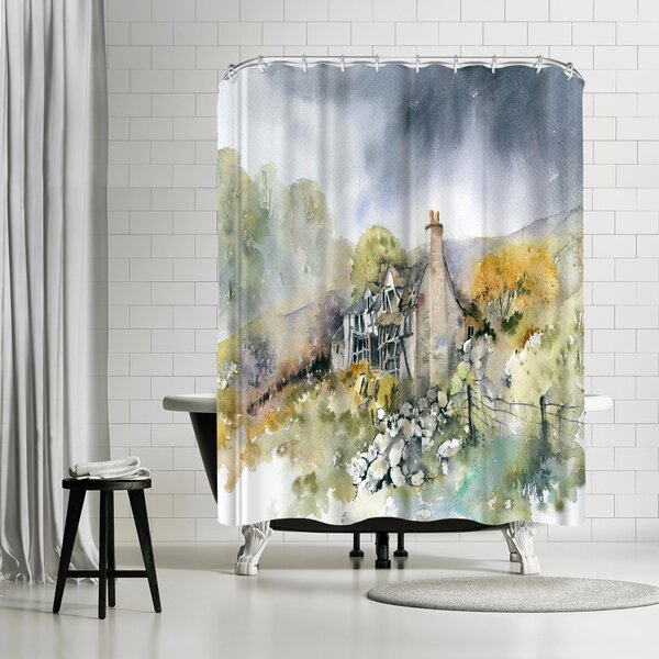 Rachel McNaughton Ruined Cottage Shower Curtain by East Urban Home