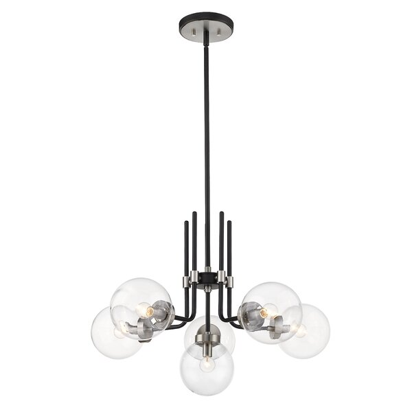Doerun 6 - Light Unique Classic Chandelier By George Oliver