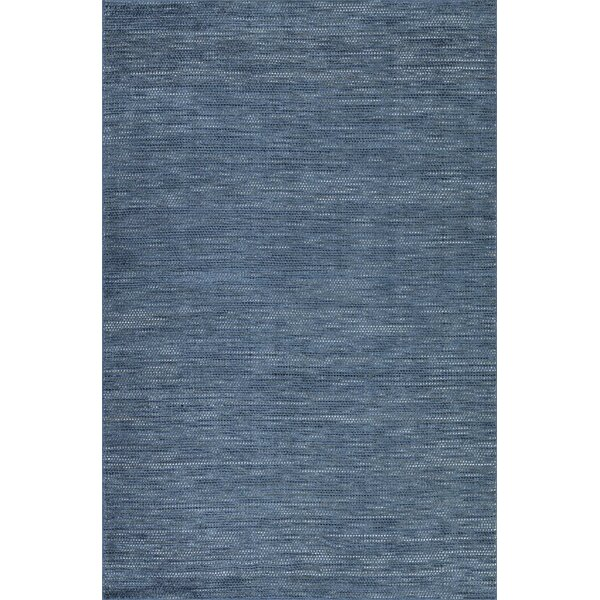 Minh Hand-Woven Navy Area Rug by Highland Dunes