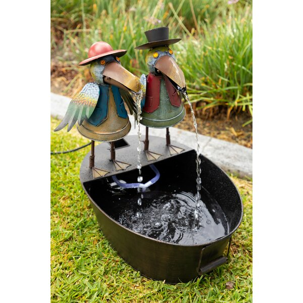 Metal Crow Duo Fountain by Alpine