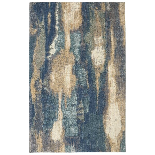 Feldman Blue Area Rug by Williston Forge