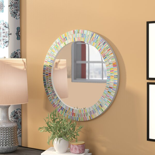 Plummer Round Rainbow Bathroom/Vanity Wall Mirror by Zipcode Design