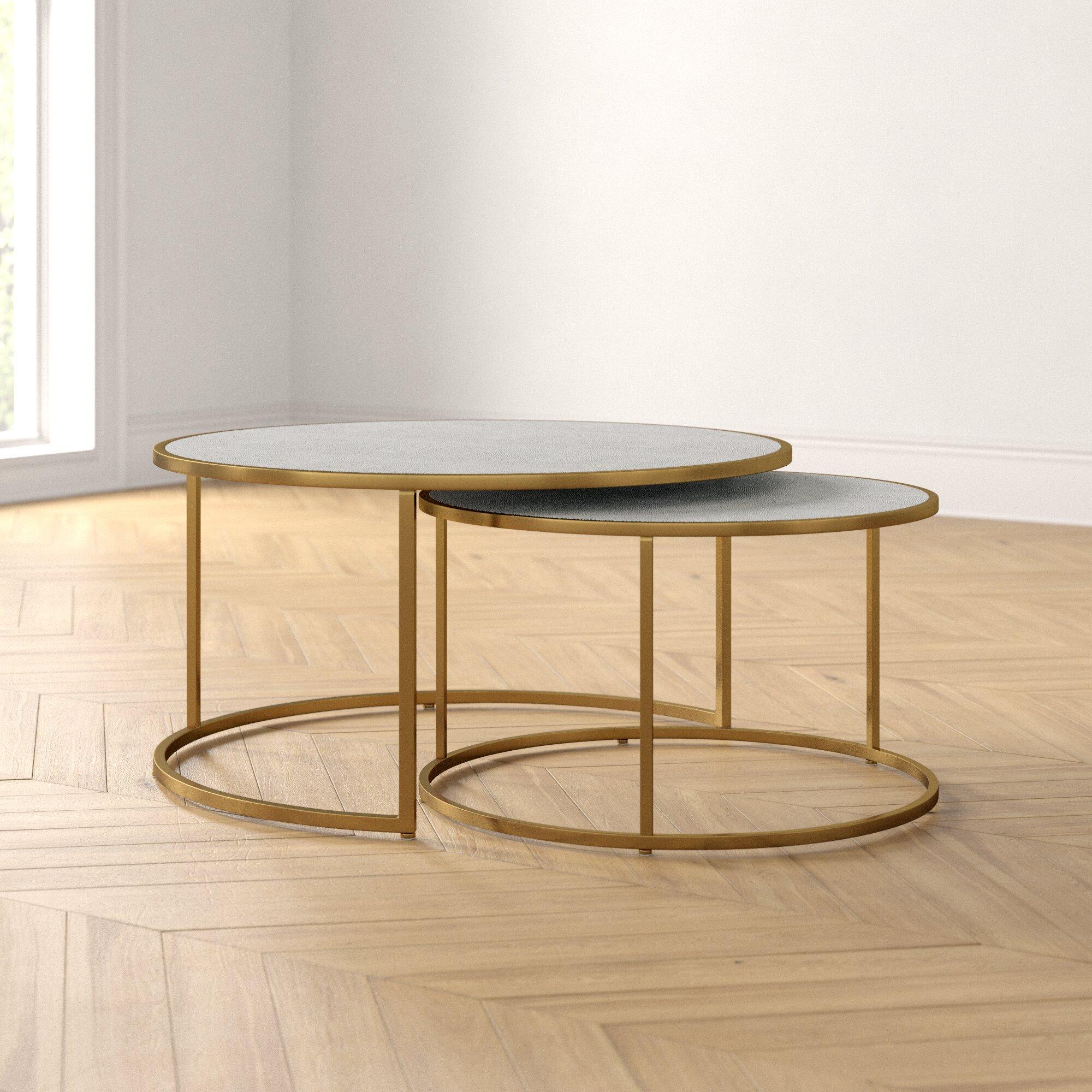 James Frame 2 Nesting Coffee Table Set