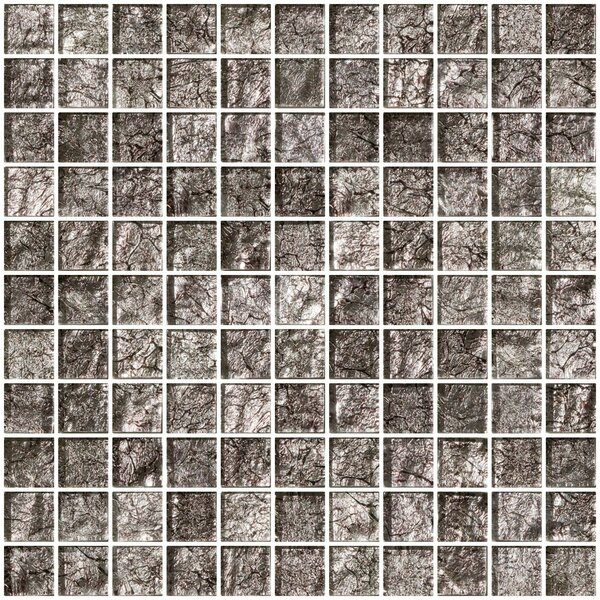 1 x 1 Glass Mosaic Tile in Platinum by Susan Jablon
