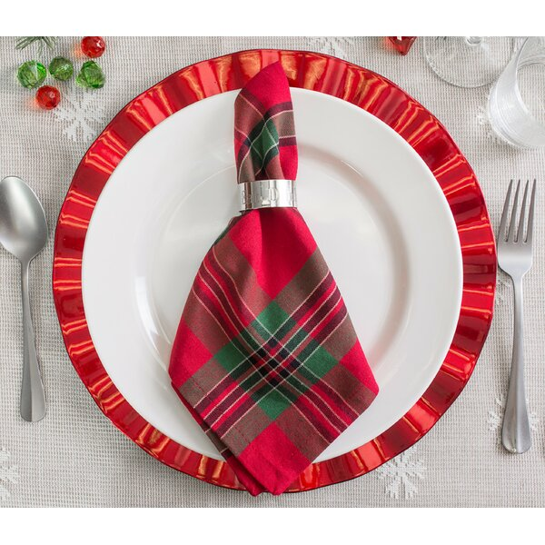 Murtagh Holiday Plaid 18 Napkin (Set of 6) by Augu