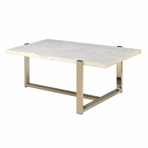 Faux Marble Top Coffee Table By Mercer41