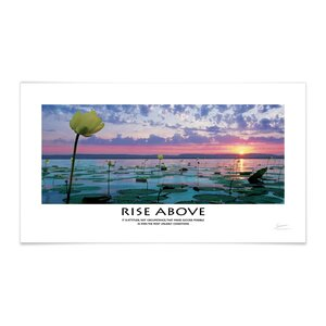 Panoramic Rise Above Lily Pads Motivational Photographic Print by Successories