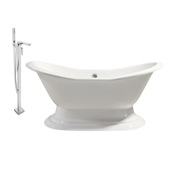 Cast Iron 61 x 30 Freestanding Soaking Bathtub by Streamline Bath