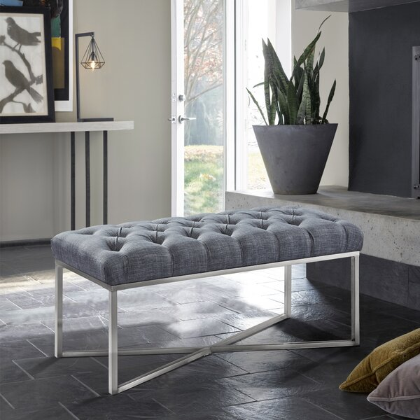 Steinke Upholstered Bench by Orren Ellis