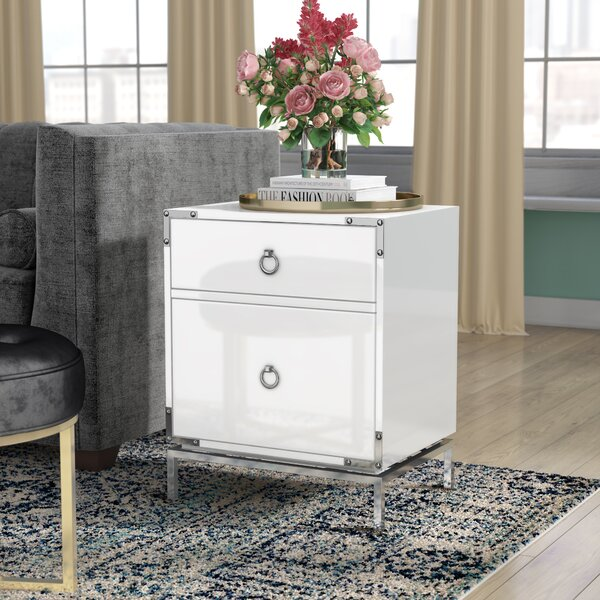 Collier 2-Drawer End Table by Willa Arlo Interiors