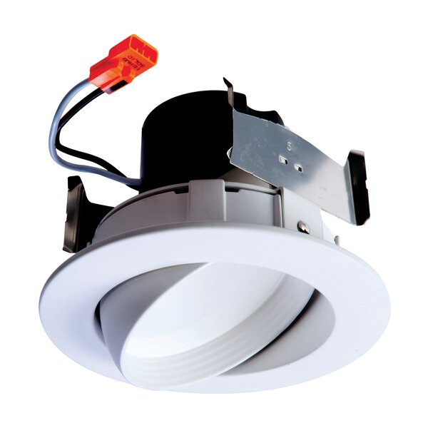 Integrated LED Narrow Flood Adjustable 4 Gimbal Ring Recessed Trim by Halo