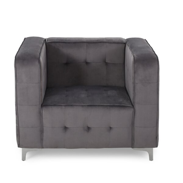 Fitchett Velvet Cube Club Chair by Mercer41
